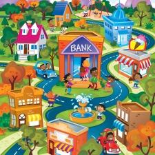 BANK CITY SCENE